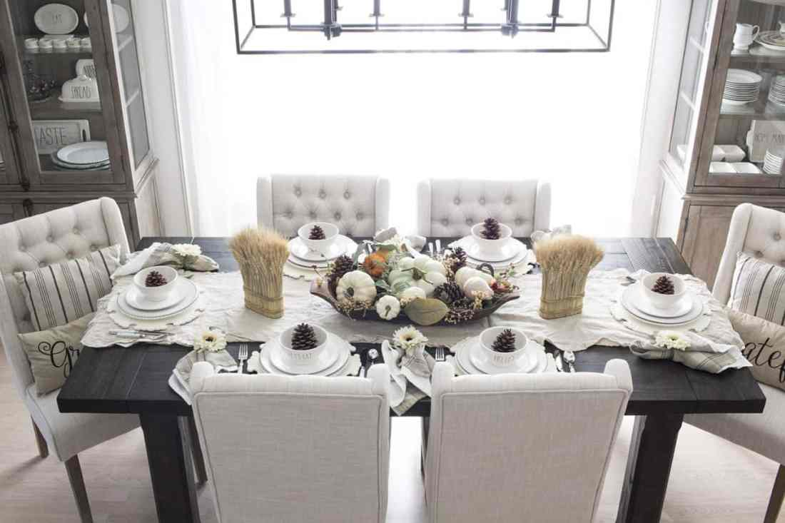 fall farmhouse table setting