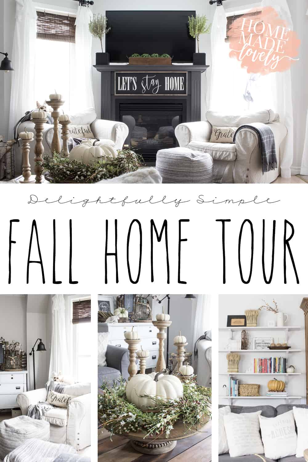 This year I was craving a little more simplicity in our fall decor. So, for our fall home tour, I kept things really quite simple and neutral.