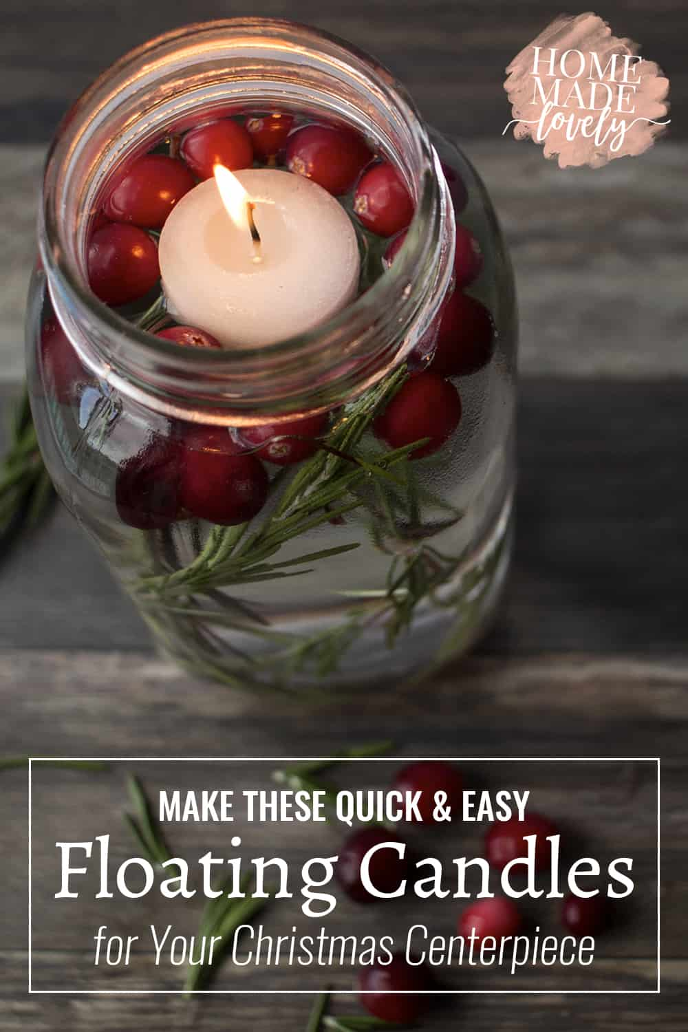Floating Candles for Your Christmas Centerpiece pin