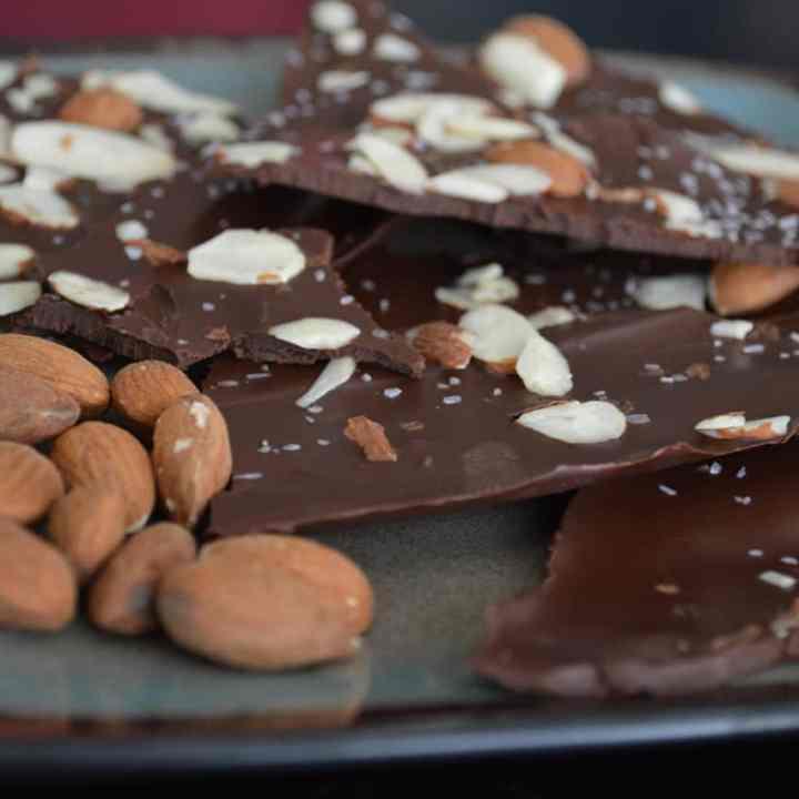 Sea Salt Dark Chocolate Almond Bark