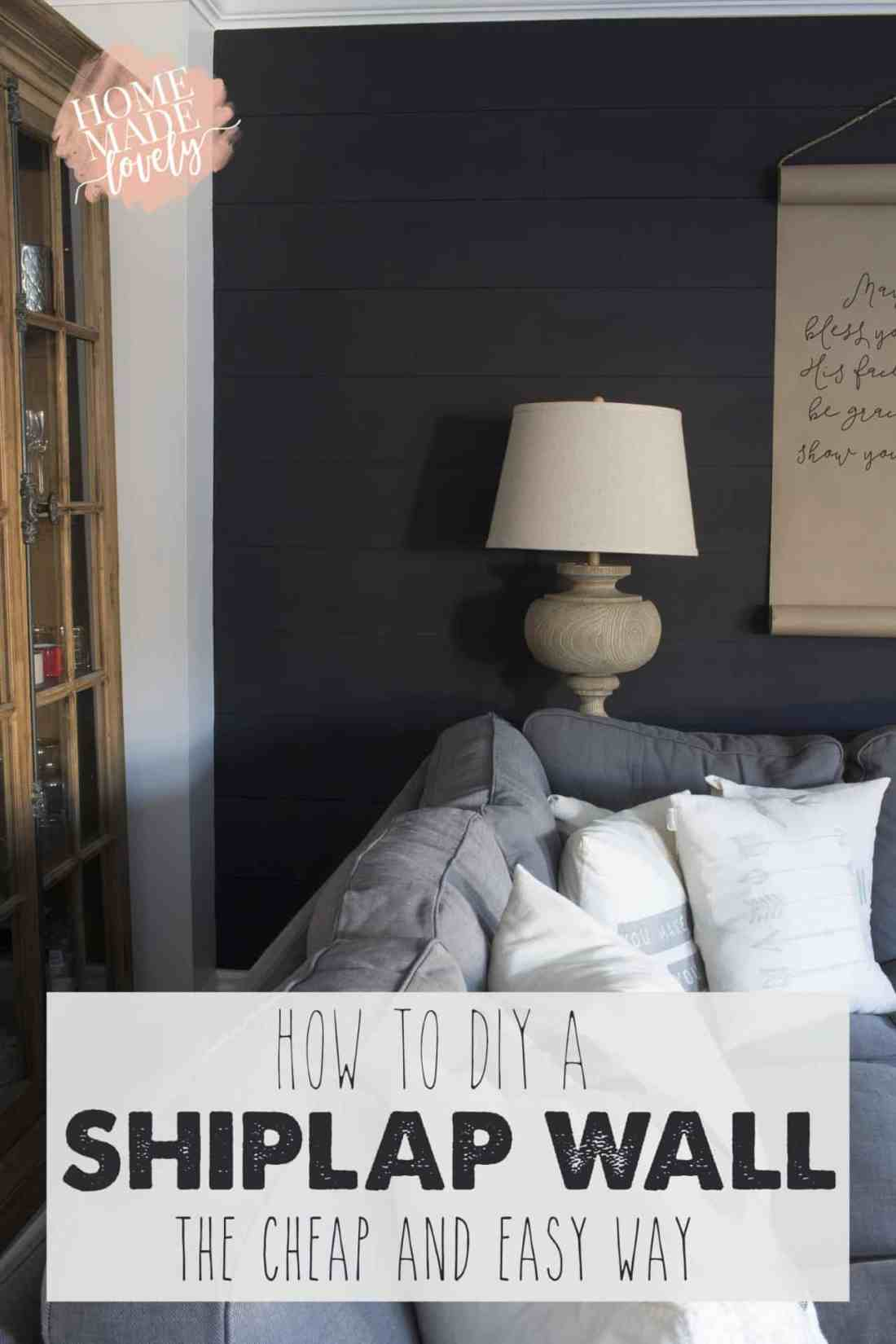 how to diy a shiplap wall pin