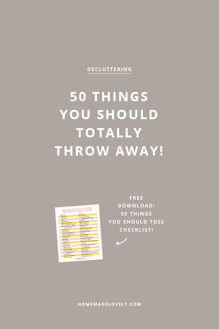 free decluttering checklist download