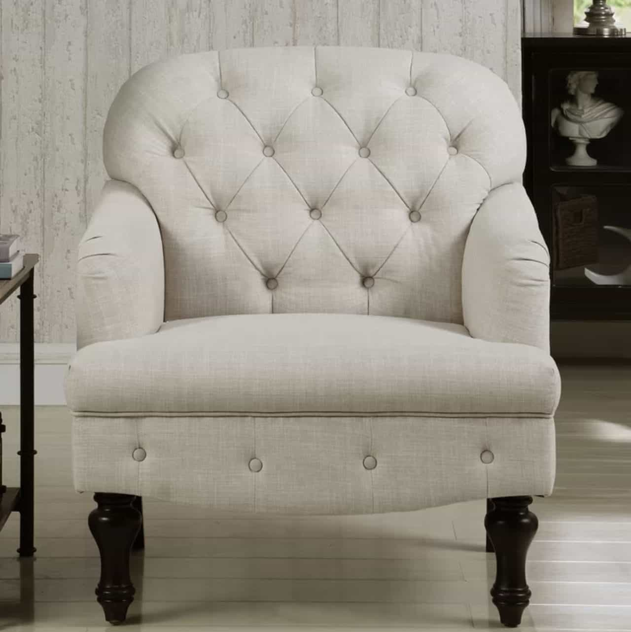 Awe Inspiring Where To Find Beautiful Inexpensive Farmhouse Tufted Armchairs Download Free Architecture Designs Embacsunscenecom