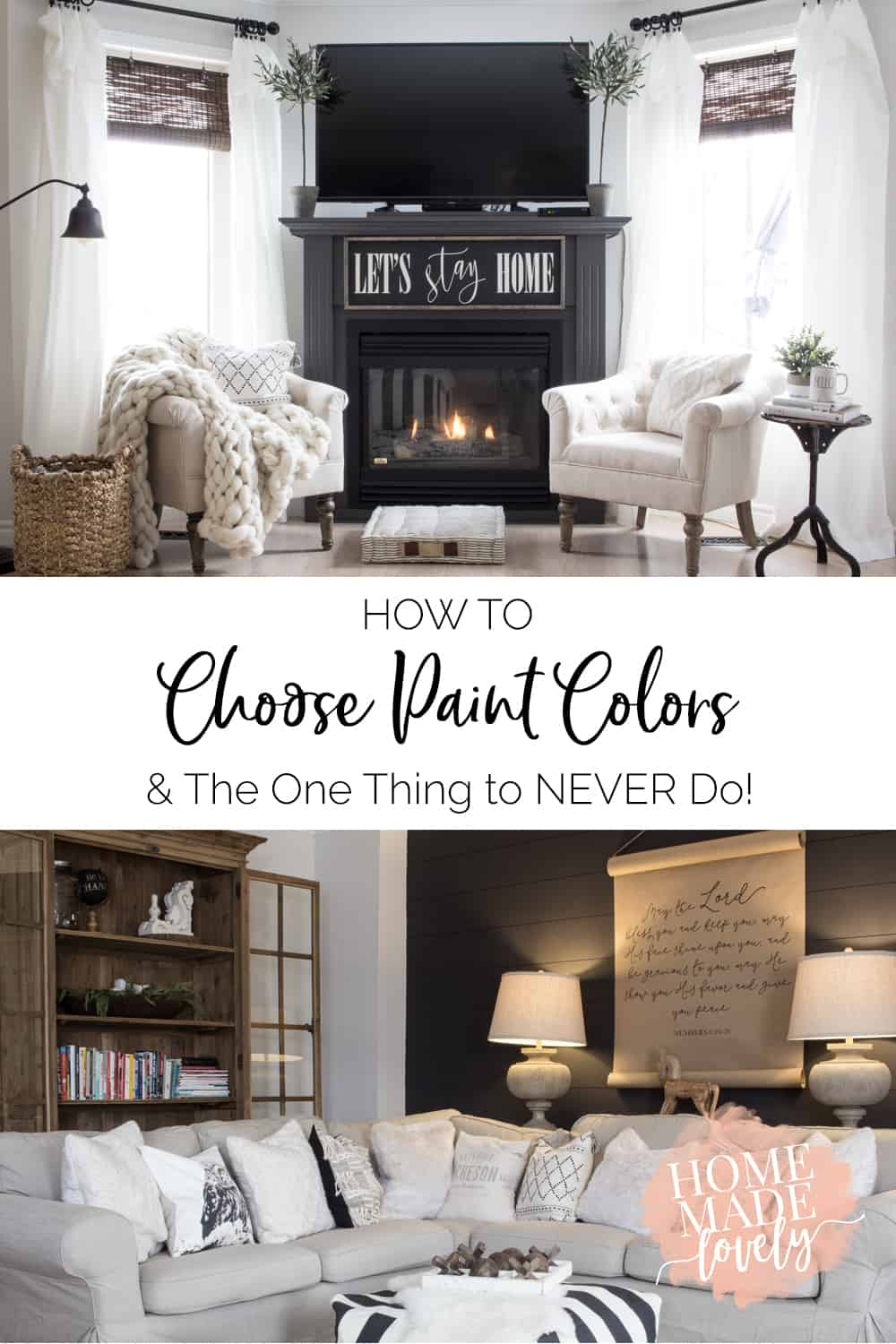 how to choose paint colors pin