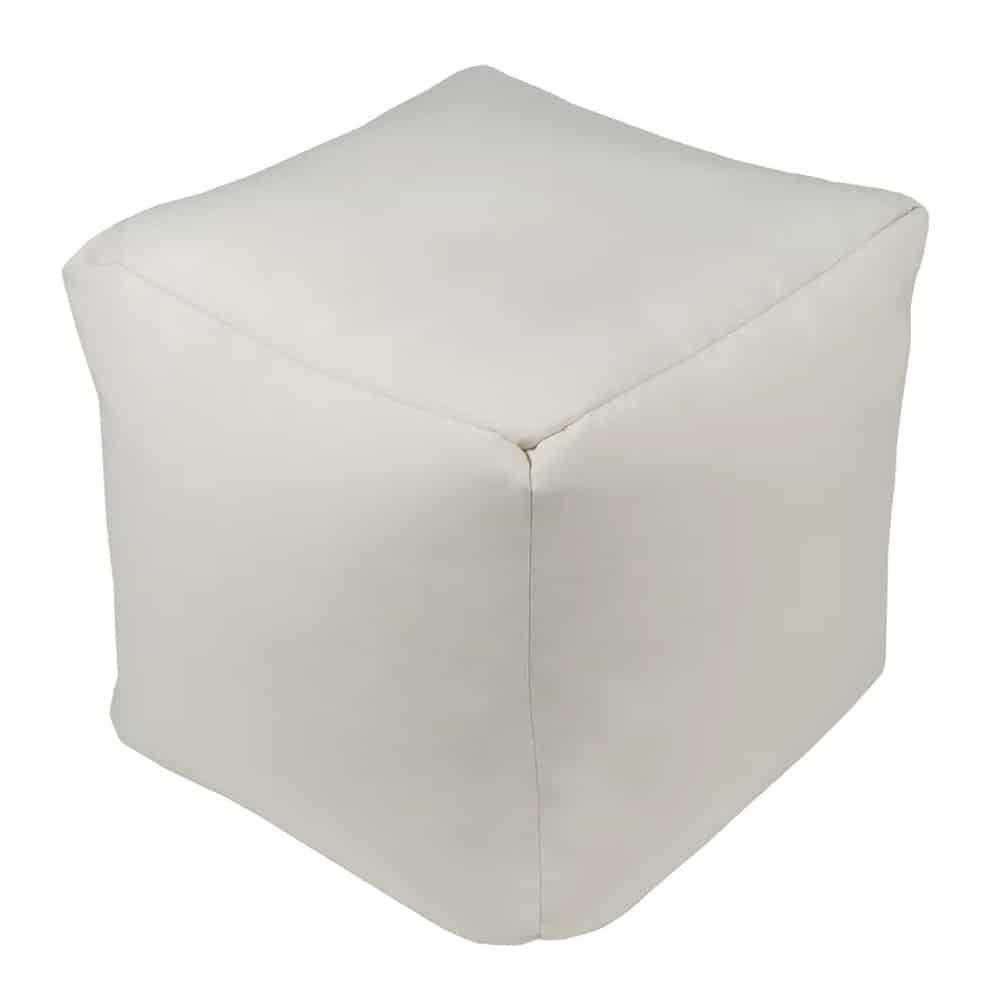 white square pouf