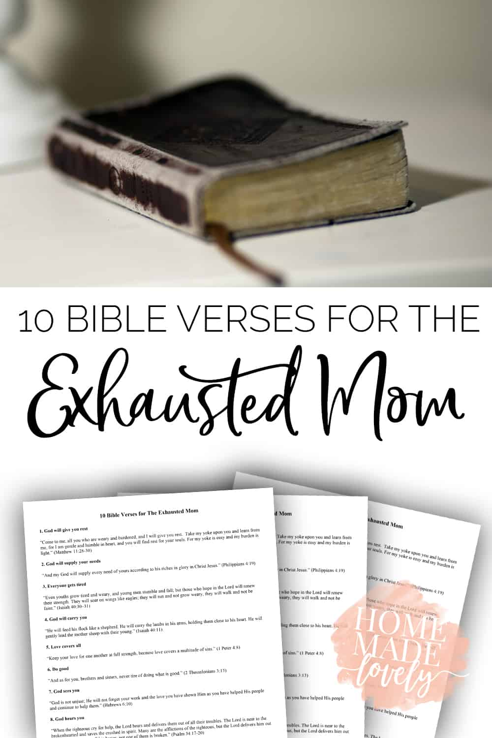 10 Bible Verses for the Exhausted Mom free printable