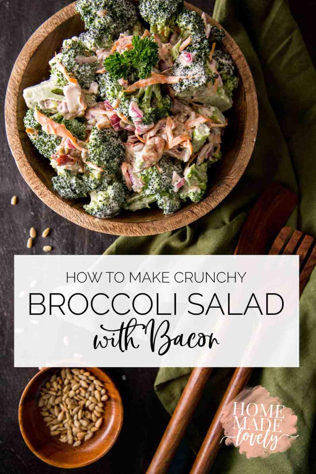 broccoli salad with bacon pin