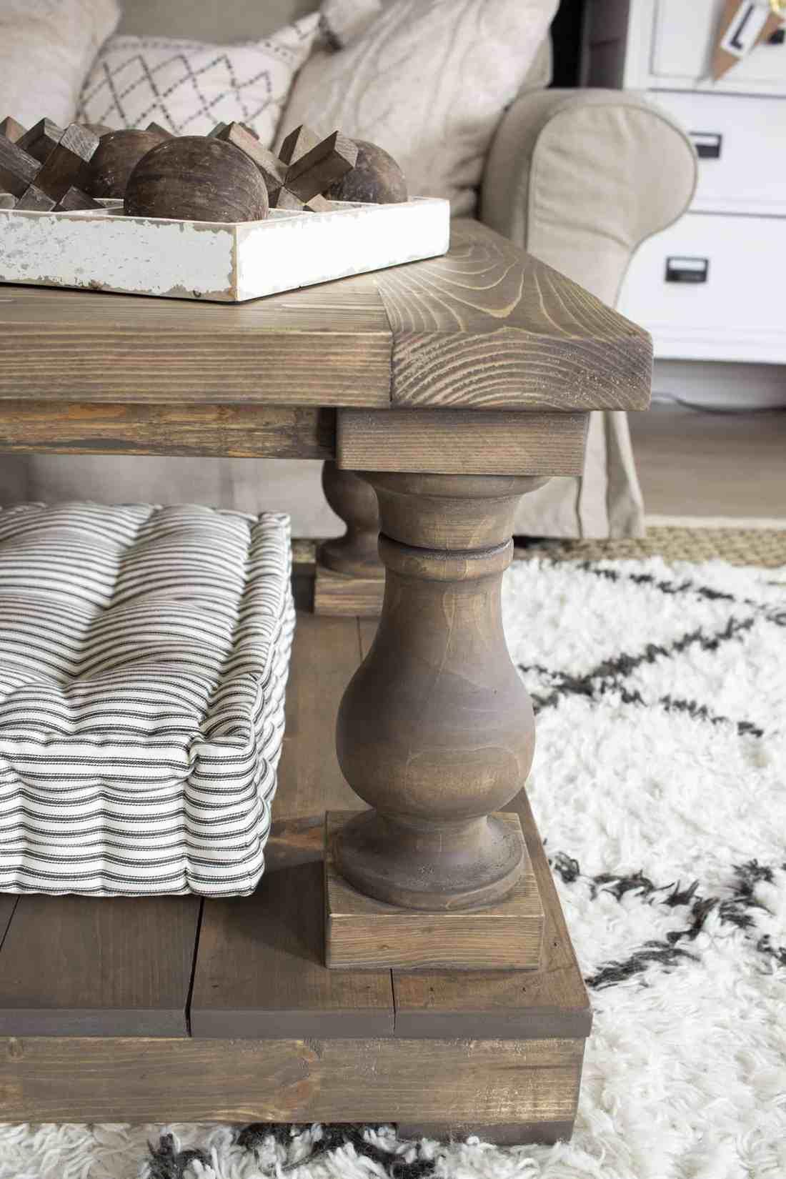 coffee table corner leg