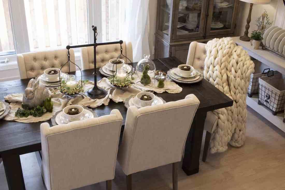 cozy spring dining room