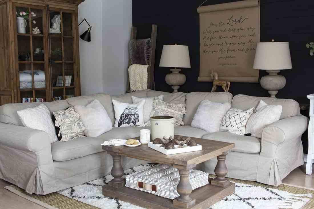 ikea ektorp sectional couch farmhouse style