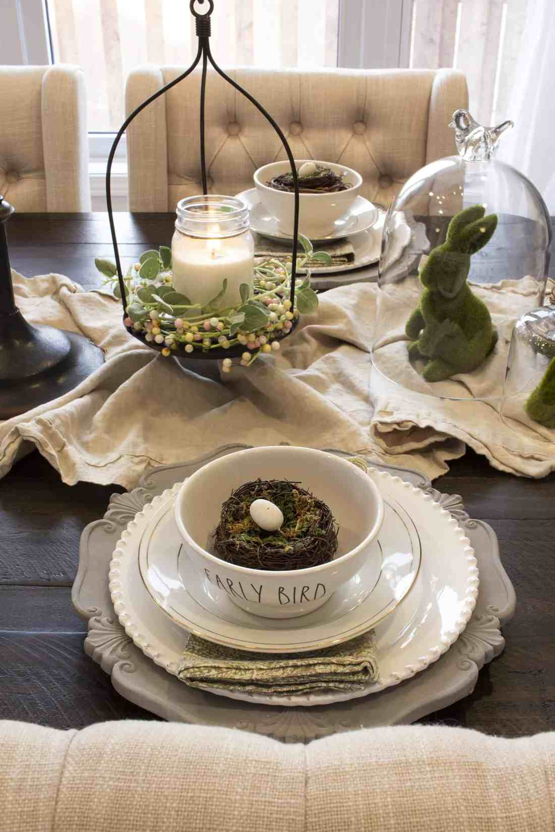 layered neutral spring table setting