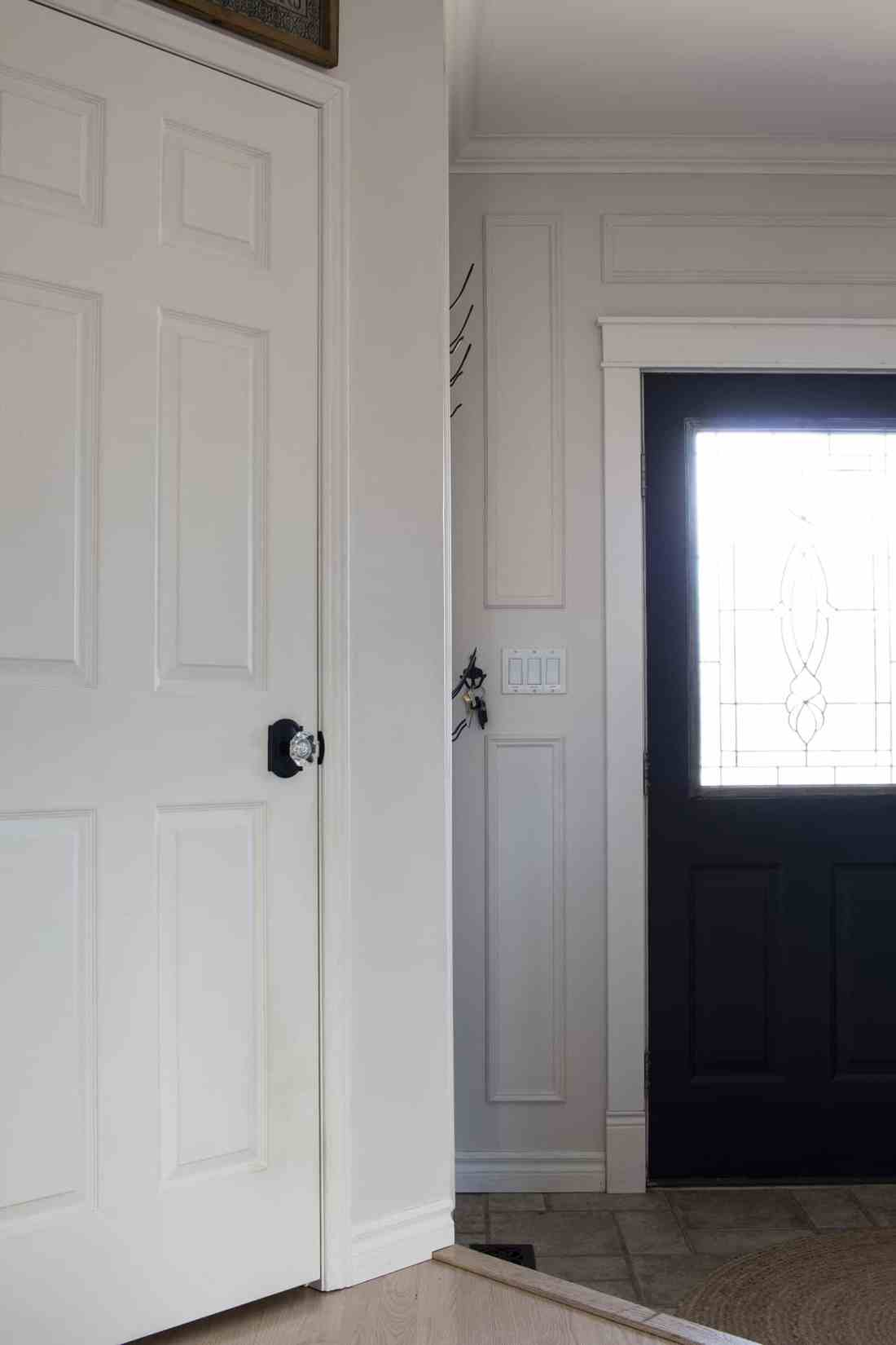 new knob on hall closet door