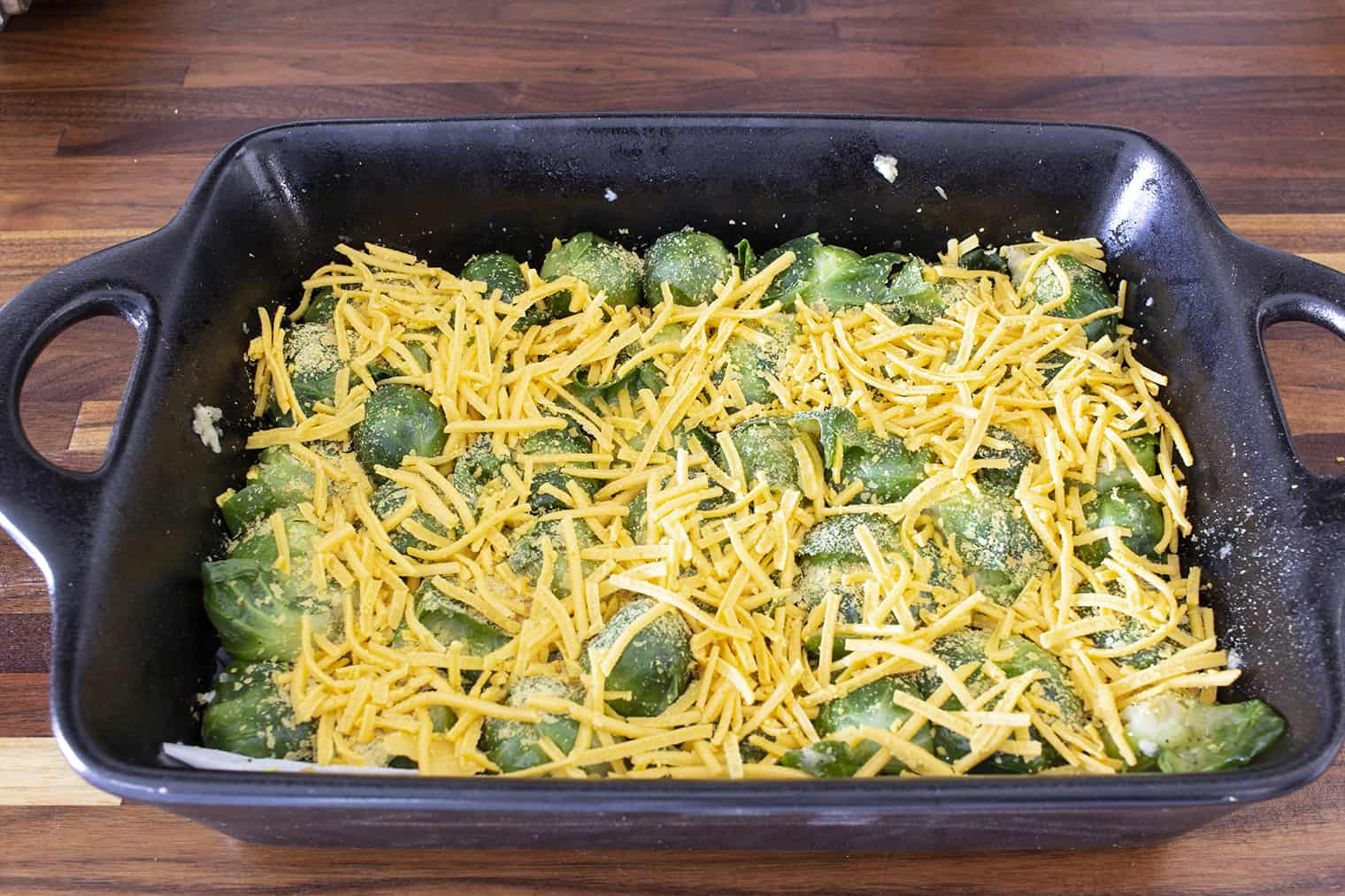 smashed brussel sprouts before oven