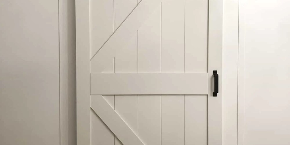 Renin Barn Door in Guest Bedroom