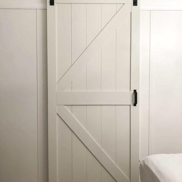 Renin Barn Door in Guest Bedroom