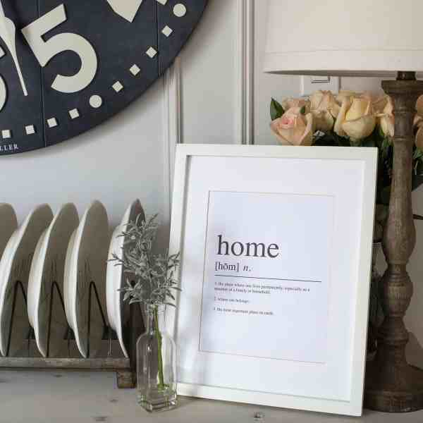 definition of home printable art