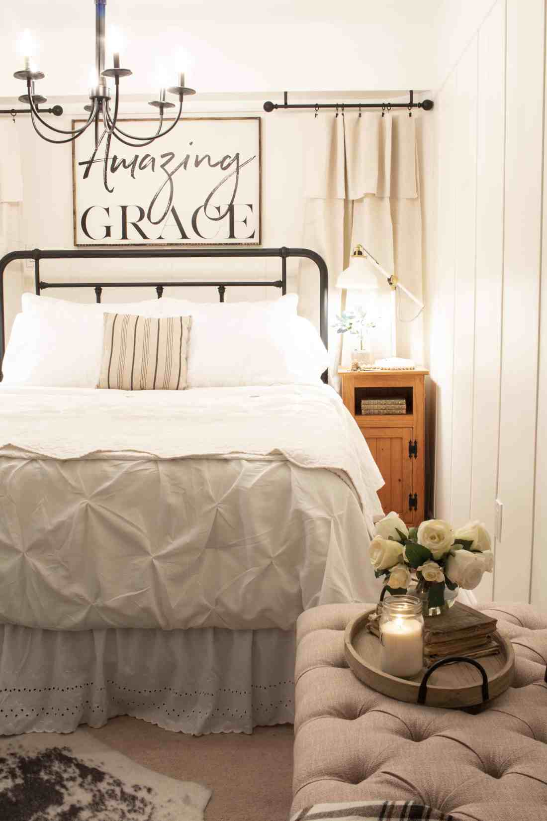 farmhouse style guest bedroom makeover