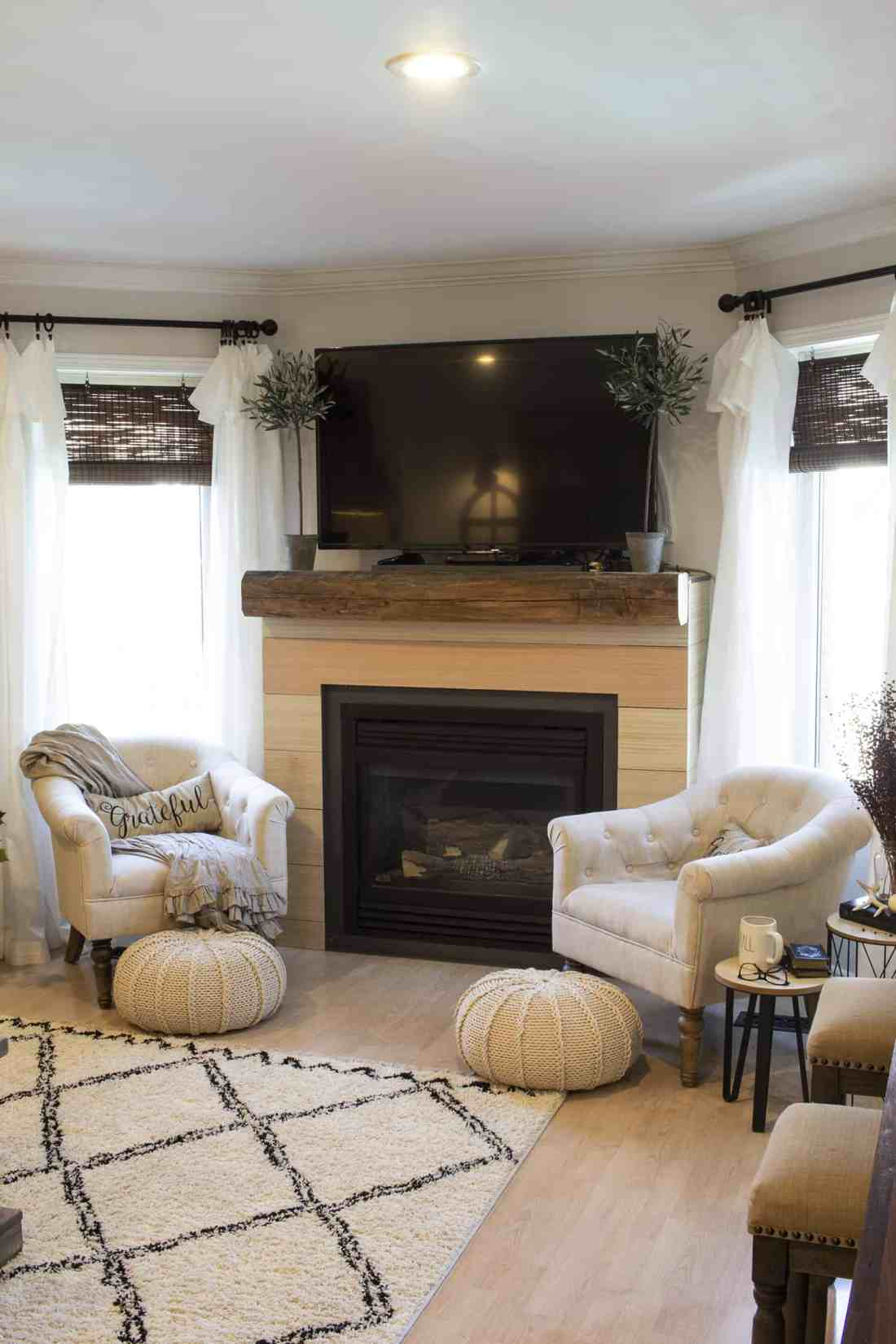 living room fireplace mid makeover