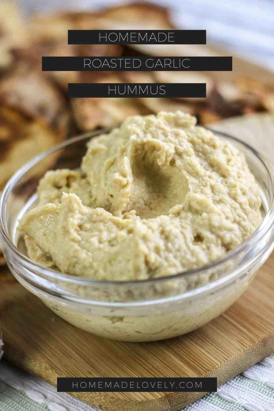 roasted garlic hummus pin 2