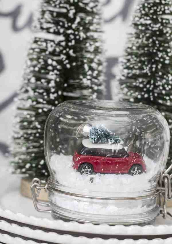 Make Your Own DIY Mini Cooper Snow Globe This Christmas