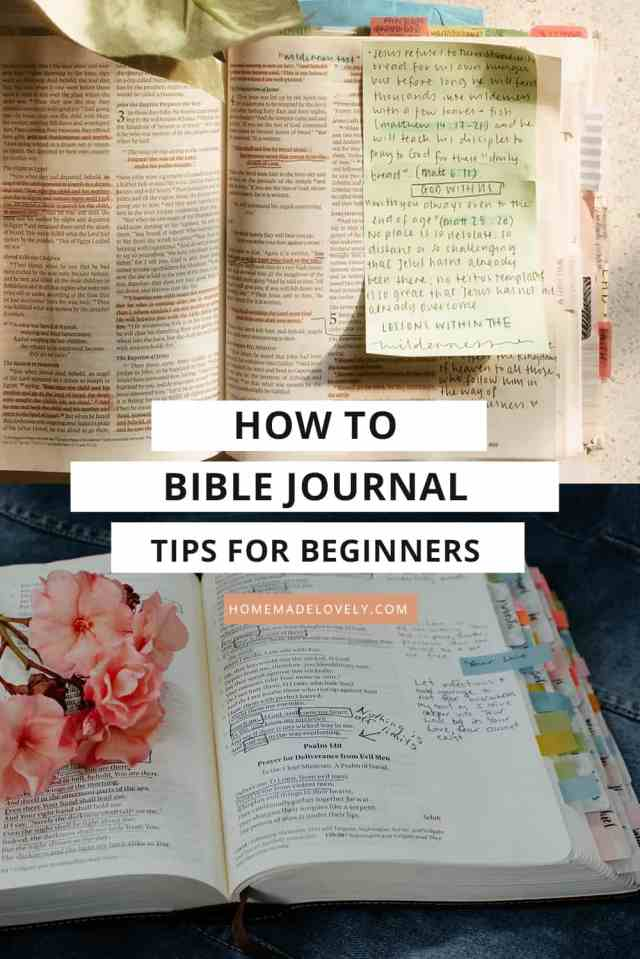 How to Bible Journal - Easy Bible Journaling Tips for Beginners to