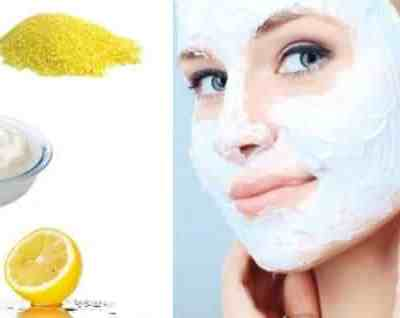 Facial Scrub For Oily Skin With Cornmeal, Yogurt And Lemon