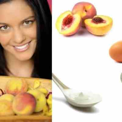 Peach, Sour Cream & Egg Face Mask For Combination Skin