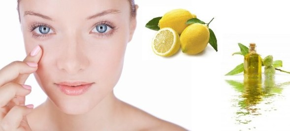 Mask with almond oil and lemon juice for dark circles