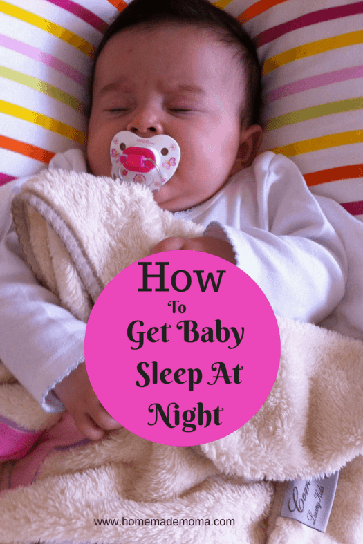 How to get baby to sleep at night