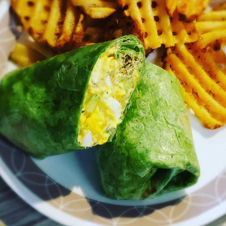 Egg & Corn Salad Wraps