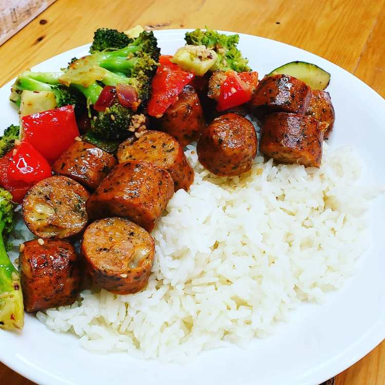 Sausage & Veggie Rice Bowl