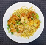 Hoisin Noodles with Tempura Shrimp