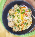 Ginger Pork Meatballs w/ Veggie Noodles
