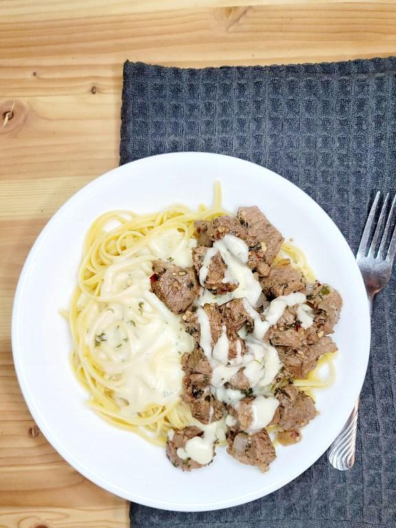 Garlic Steak & Lemon Pasta