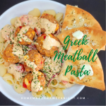 Greek Meatball Pasta