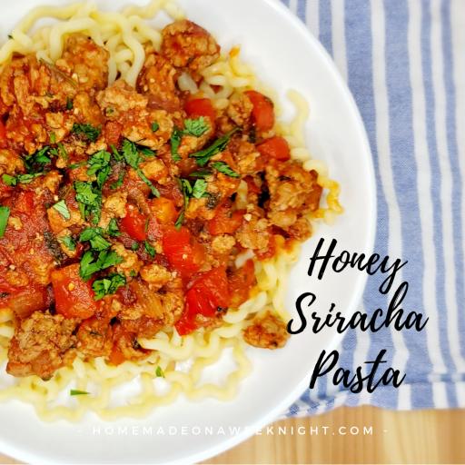 Honey Sriracha Pasta