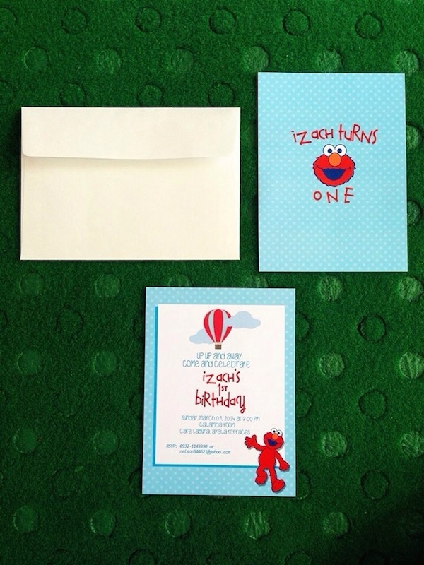 Izachs Elmo Birthday Party – Homemade Elmo Birthday Invitations