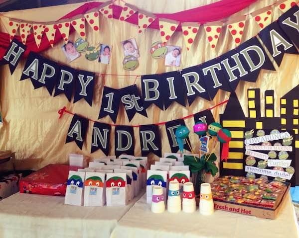 Homemade Parties DIY Party_Teenage Mutant Ninja Turtles Party_Andrei18