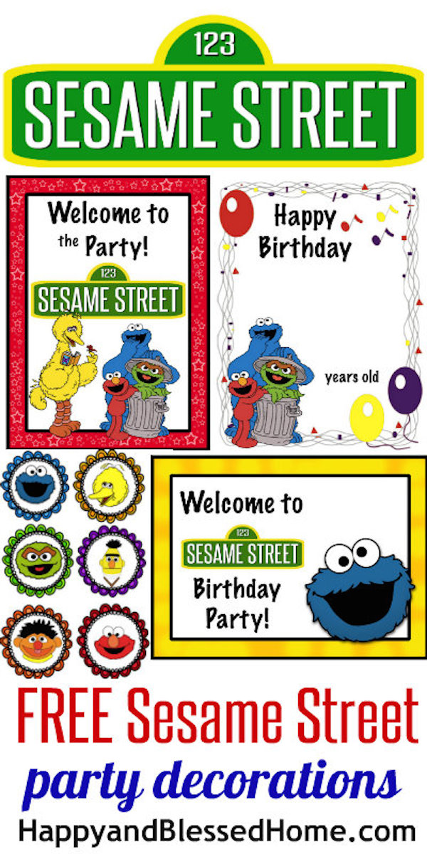 Homemade Parties DIY Party Sesame Street Printables01