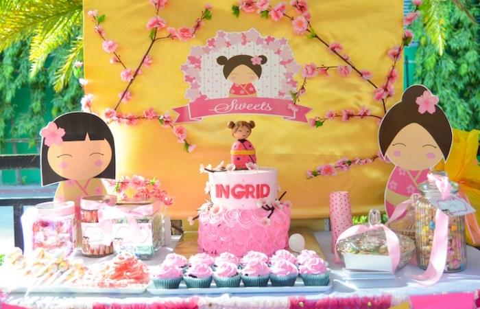 Ingrid's Kokeshi Doll Party