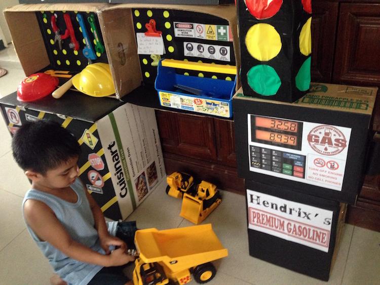 DIY Cardboard Contruction and Mechanics Playset07
