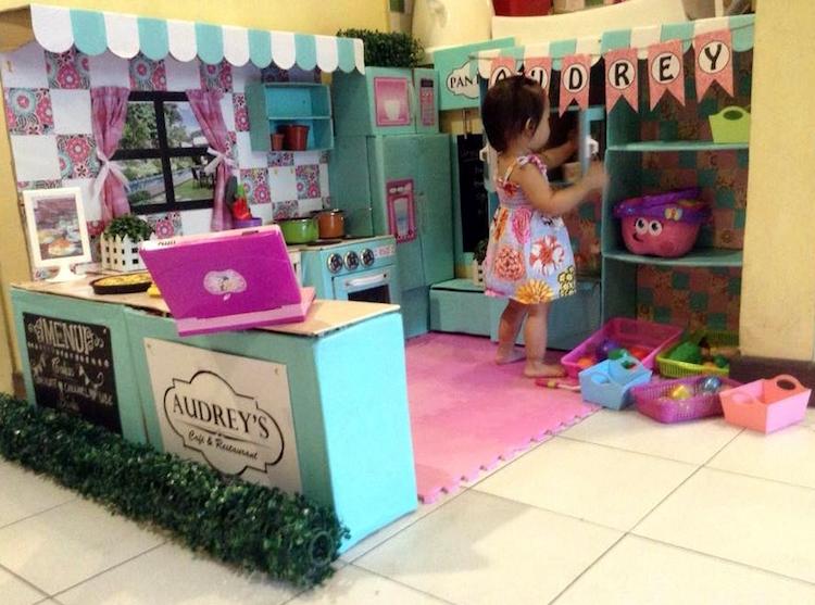 DIY Cardboard Kitchen Cafe Pantry Playset04