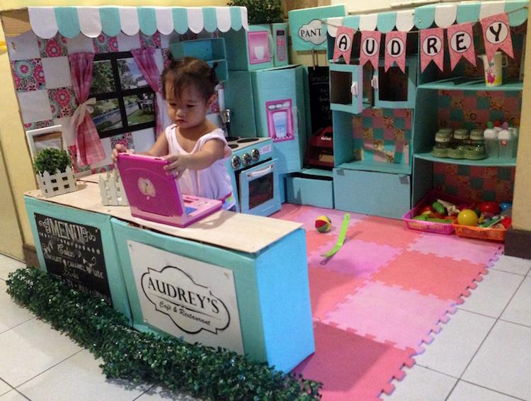 DIY Cardboard Kitchen Cafe Pantry Playset15