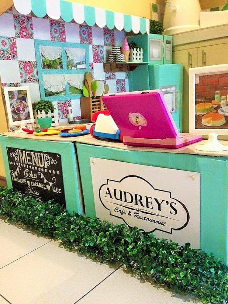 DIY Cardboard Kitchen Cafe Pantry Playset19