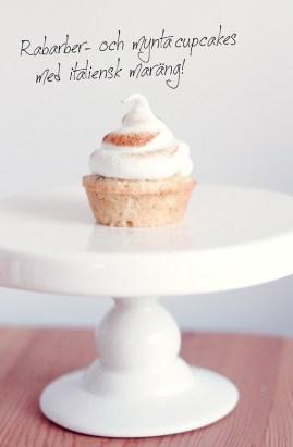 rabarber mynta muffin