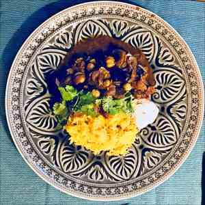 Rindfleisch Tajine mit Reis