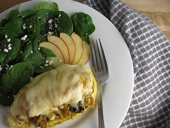 Apple, Feta, and Turmeric Stuffed Chicken