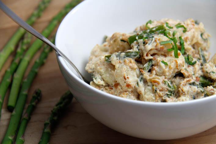 Asparagus Pancetta Gnocchi with Ricotta Sauce