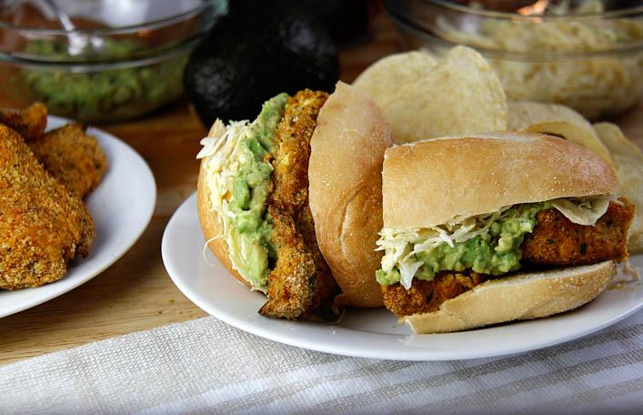 Sunshine Curry Crispy Chicken Sandwiches