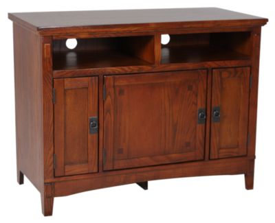 Ashley Cross Island Mission TV Stand Homemakers Furniture
